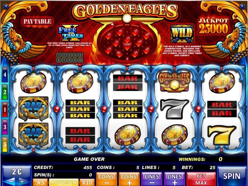 Casino free slot machine Golden Eagles