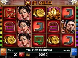Play free casino slot Golden Flower of Life