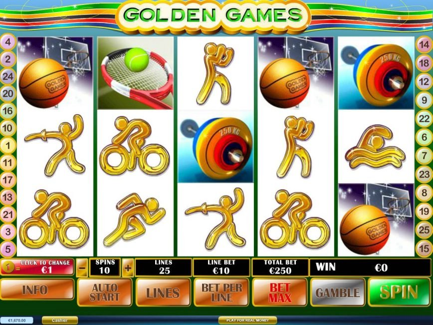 Spin slot machine Golden Games online
