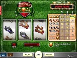 Play free slot machine Golden Goal online