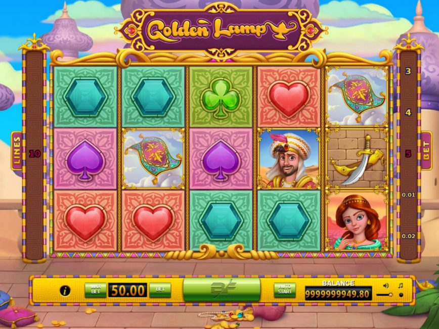 Spin free casino game Golden Lamp