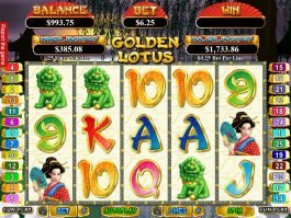 Online free game Golden Lotus by RTG