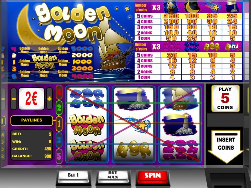 Play free slot machine Golden Moon