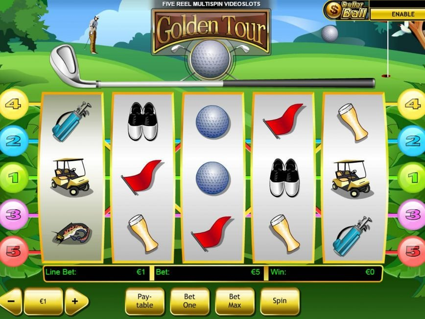 Slot machine for fun Golden Tour online