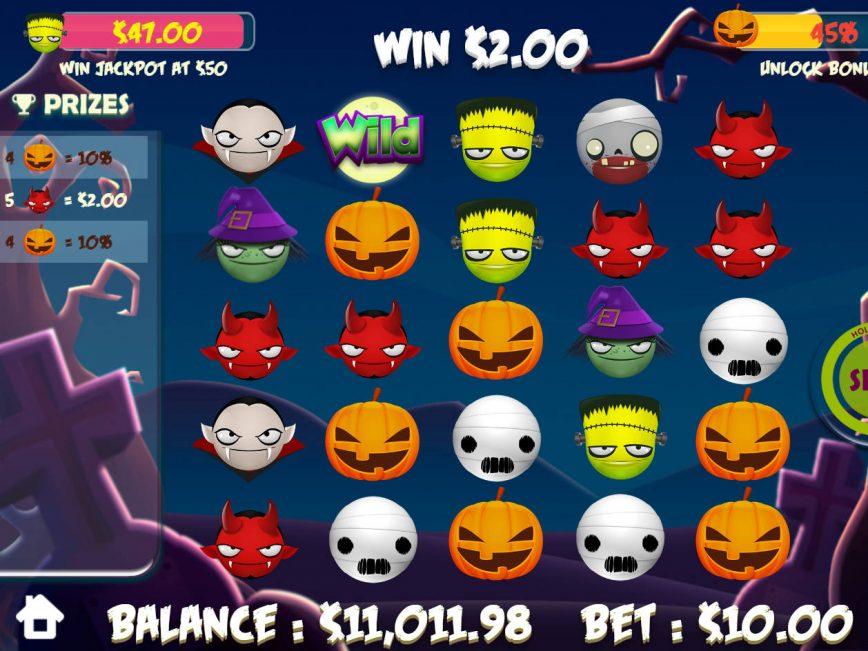 Casino slot machine Halloween Emojis