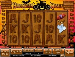 Casino slot machine Halloween Night