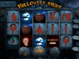 Spin casino slot machine Halloween Night