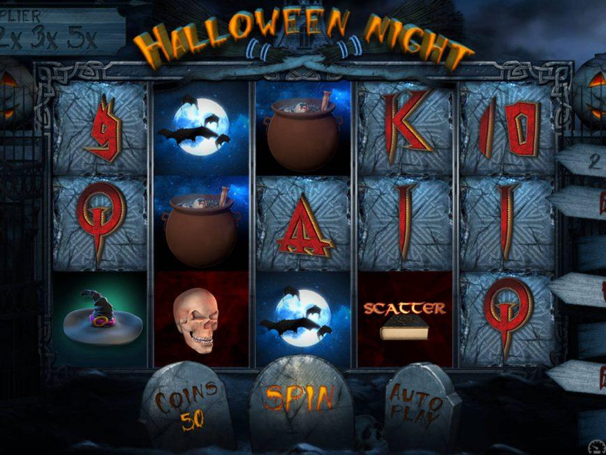 Spin casino slot machine Halloween Night