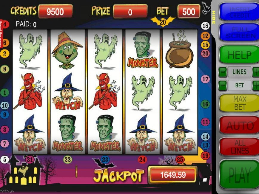 Halloween online no deposit game by RCT Gaming