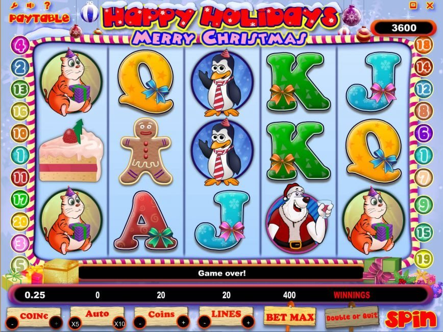 Play slot game Happy Holidays