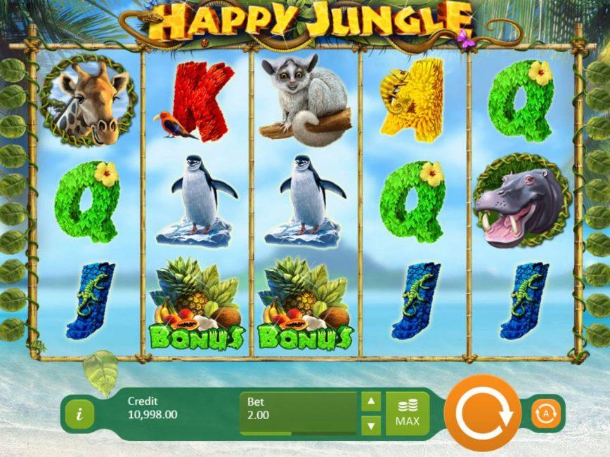 Play free slot game Happy Jungle