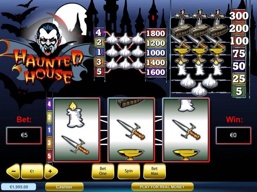 Spin casino slot machine Haunted House