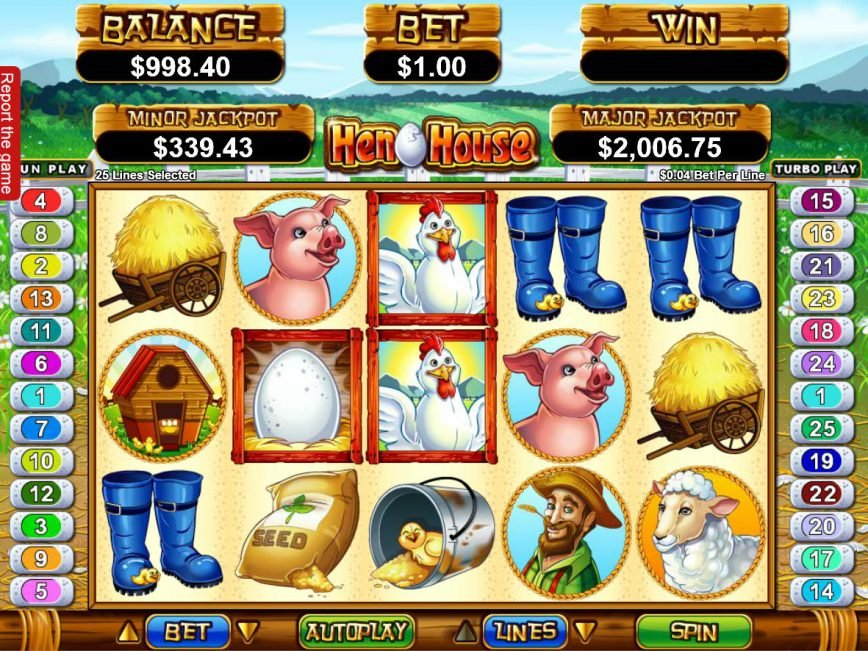 Spin casino free game Hen House