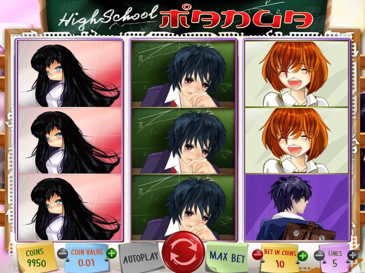 High School Manga Slot Machine