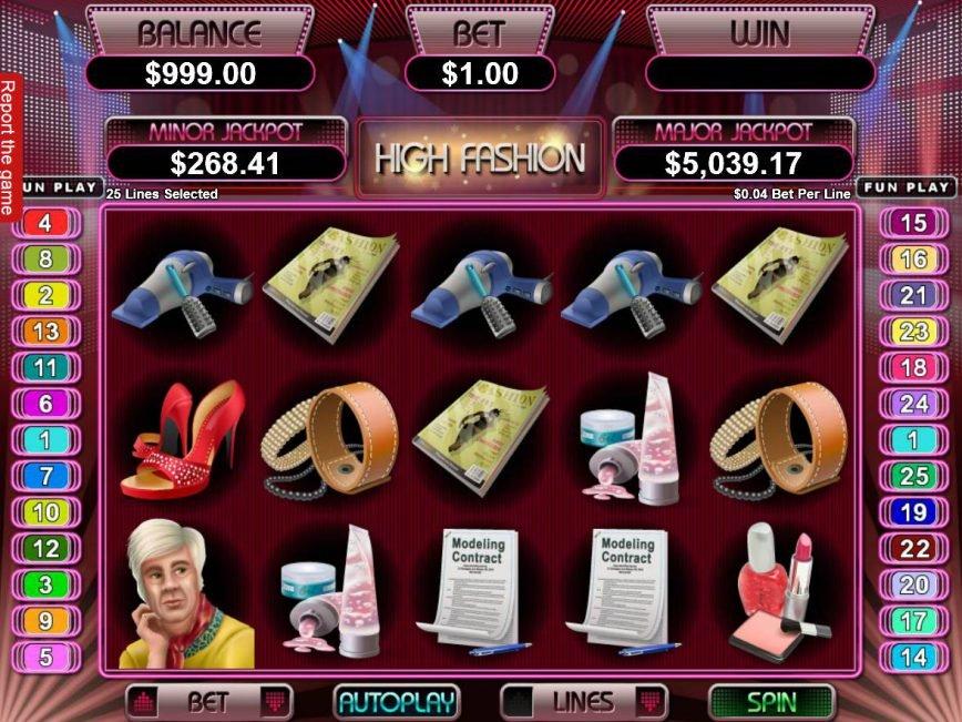 No deposit slot machine Hight Fashion