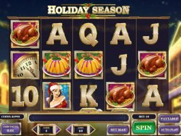 Casino slot game Holiday Season
