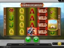 A picture of the slot game Horsemen