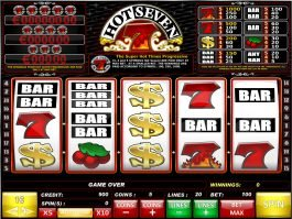 A picture of the slot game Hot Seven