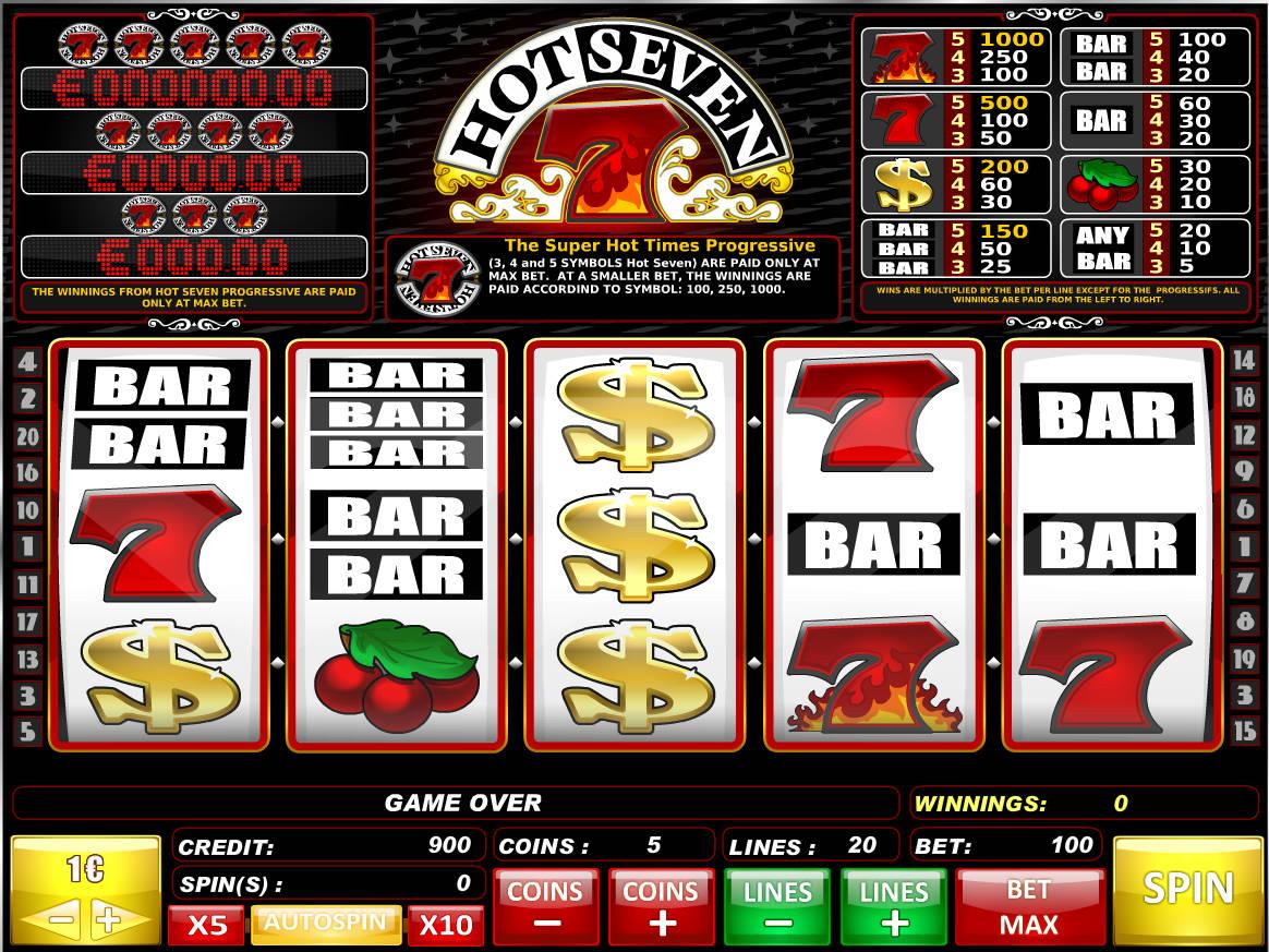 Hot Seven Dice Slots Machine