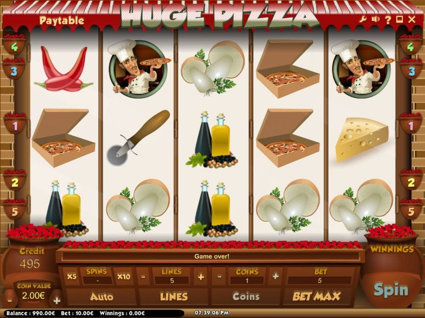 Online slot game Huga Pizza