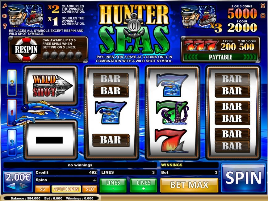 Slot game Hunter of Seas for free