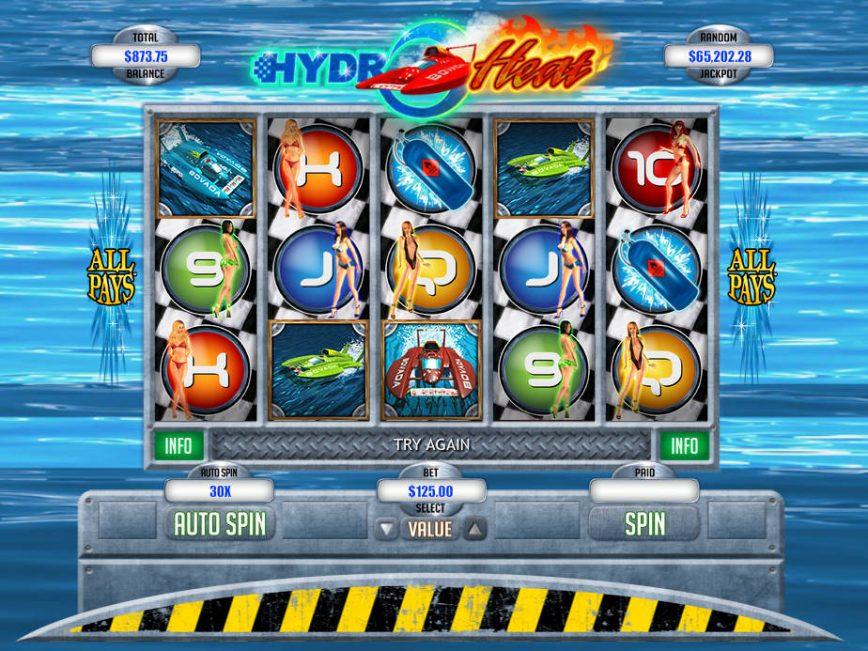 A picture of the casino slot Hydro Heat