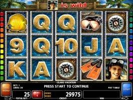 Island Vacation casino free slot game