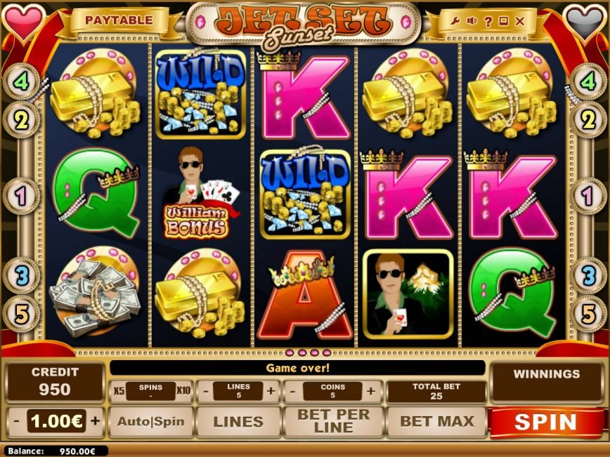 Play free slot machine Jet Set Sunset