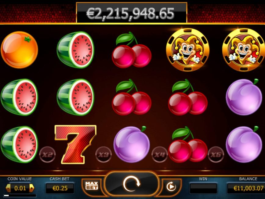 A picture of the casino game Joker Millions