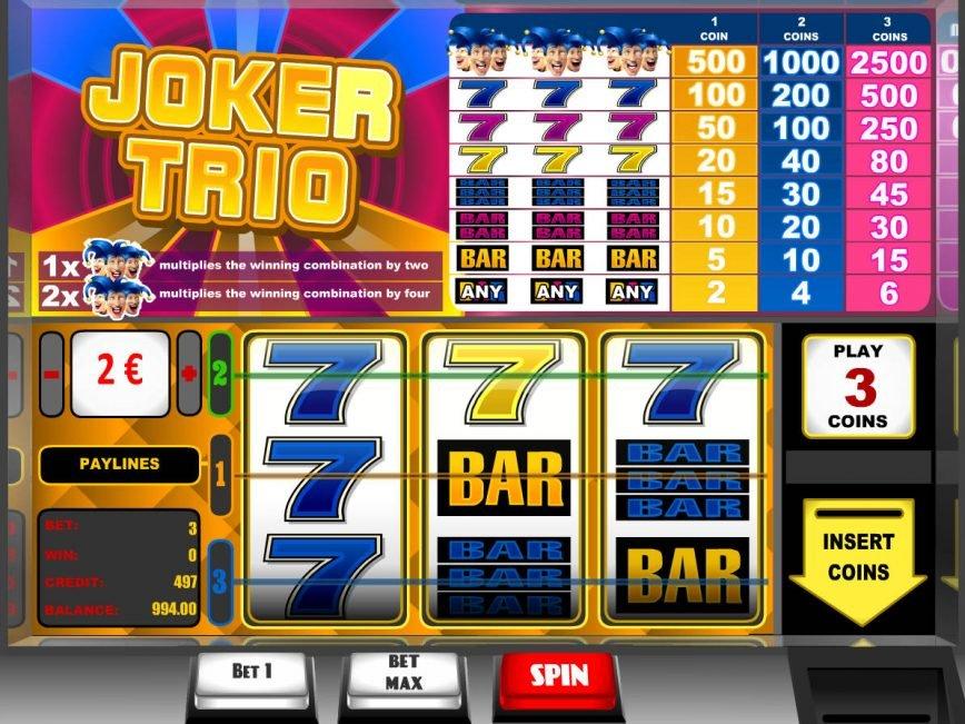 Casino slot machine Joker Trio online