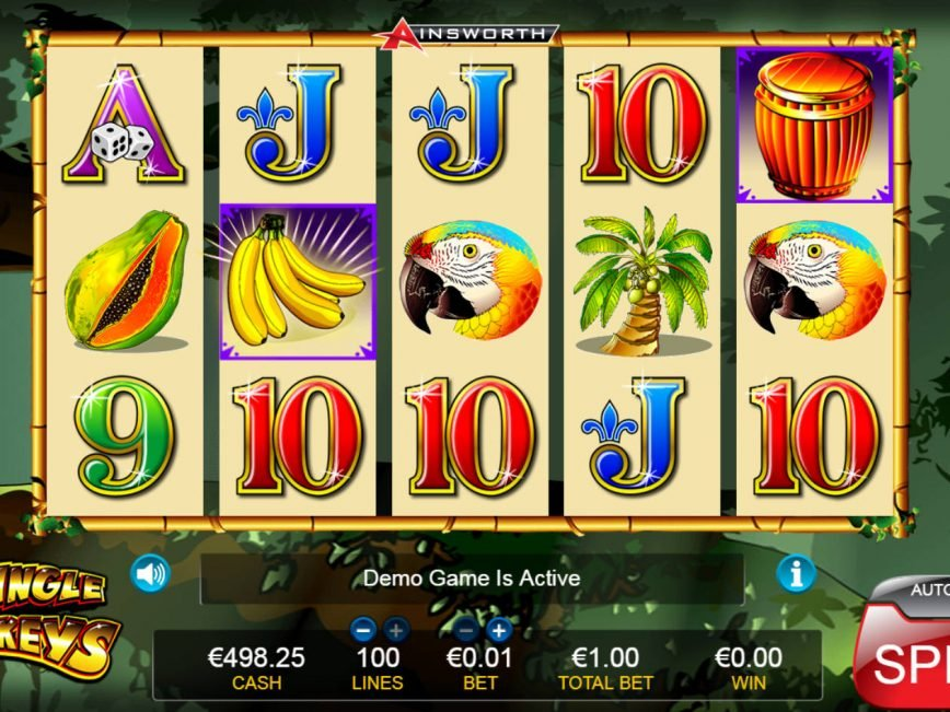 No deposit slot machine Jungle Monkeys for free