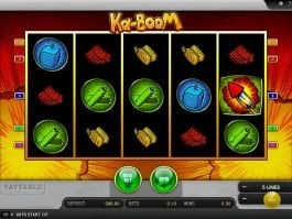 Spin online casino game Ka-Boom by Merkur
