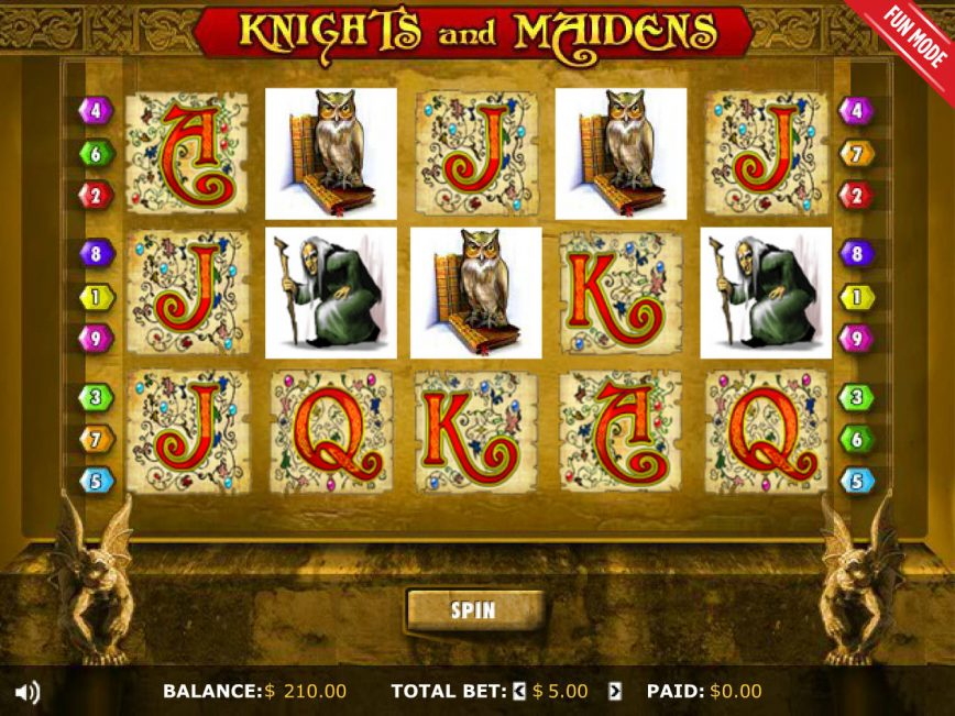 Knights and Maidens casino free game