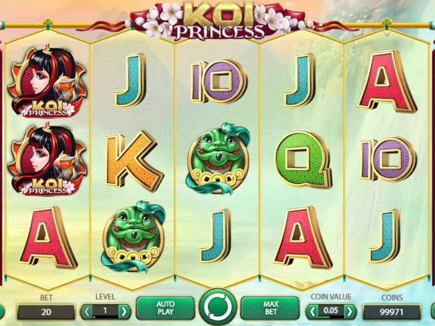 A picture of the casino slot machine Koi Princess