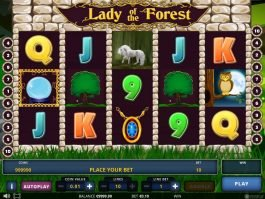 No deposit game Lady of the Forest