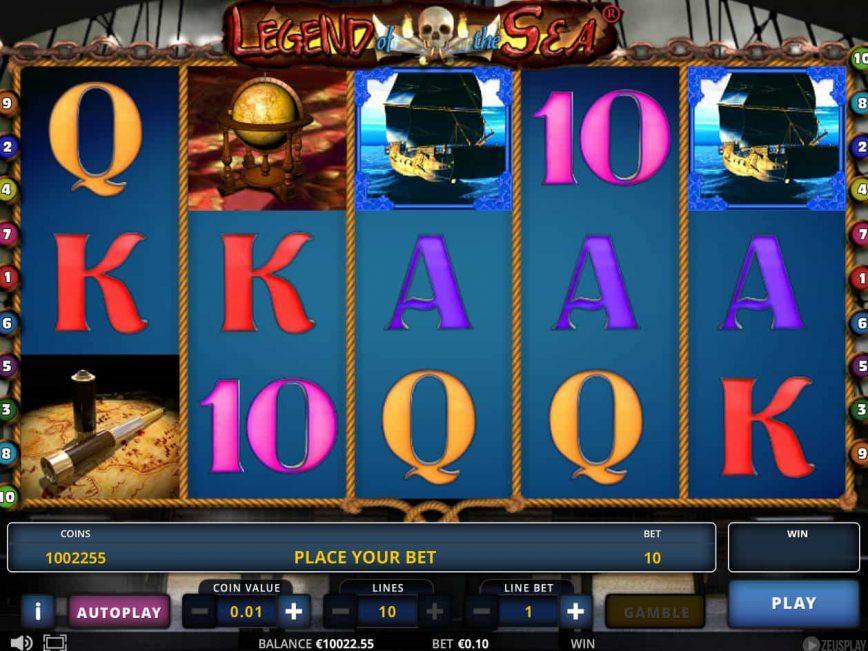 Free casino slot machine Legend of the Sea