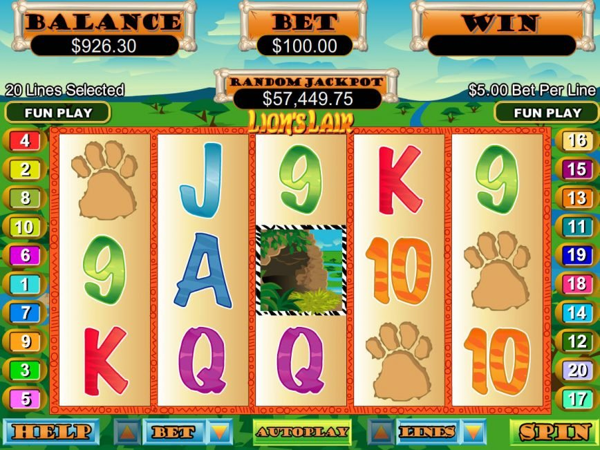 Spin casino free game Lion´s Liar