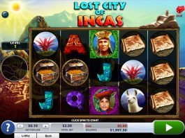 Play free online slot machine Lost City of Incas