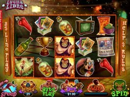 An image of Lucha Libre online slot machine