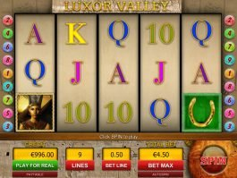 A picture of the slot game Luxor Valley by Viaden