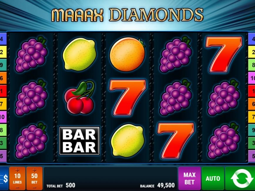 No deposit game Maaaax Diamonds