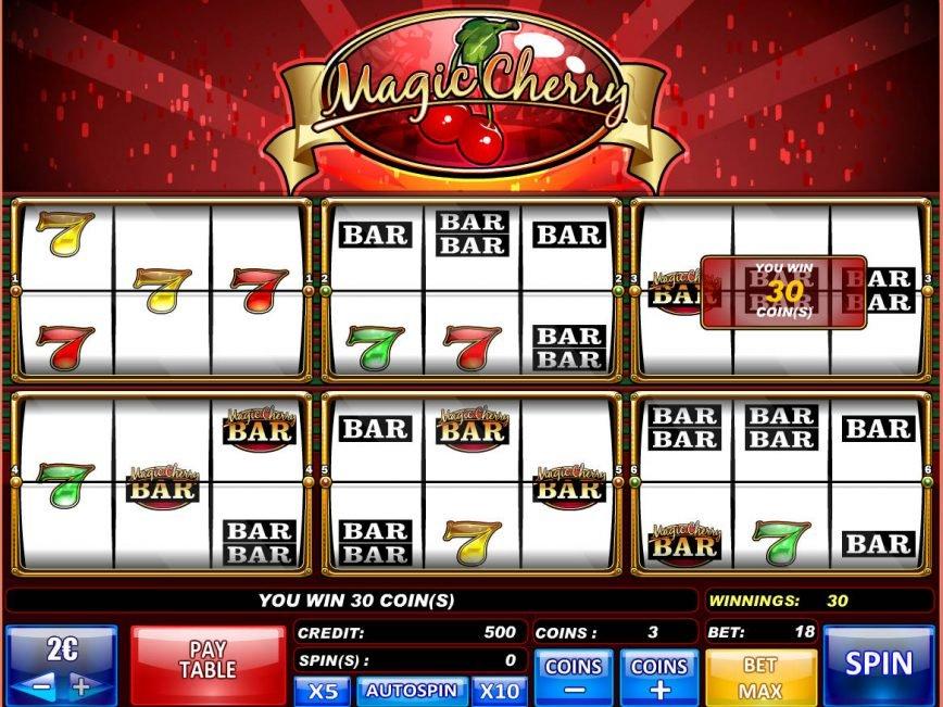 Play free video slot machine Magic Cherry