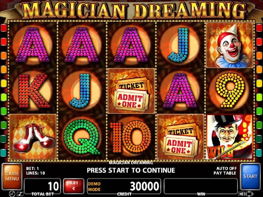 Magician Deaming Slot Machine
