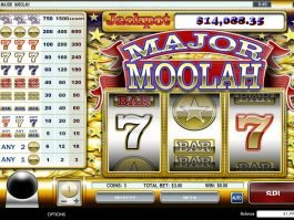 Spin slot game for fun Major Moolah