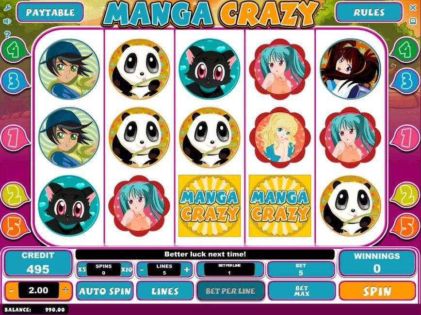 No deposit slot game Manga Crazy