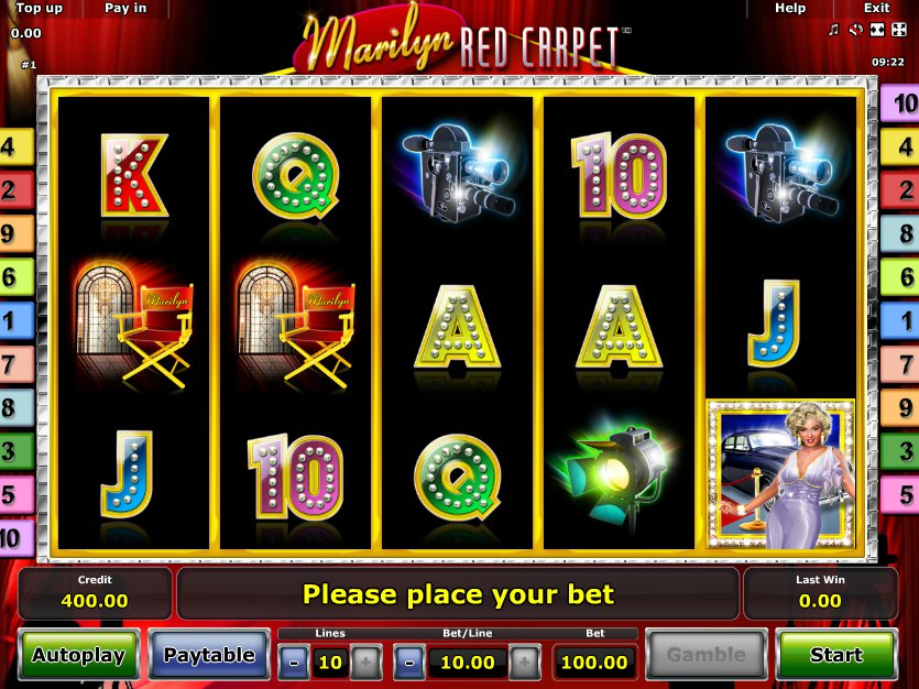 Marilyn Red Carpet Slots - Online Casino Spiele kostenlos spielen