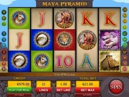 Spin free slot machine Maya Pyramid