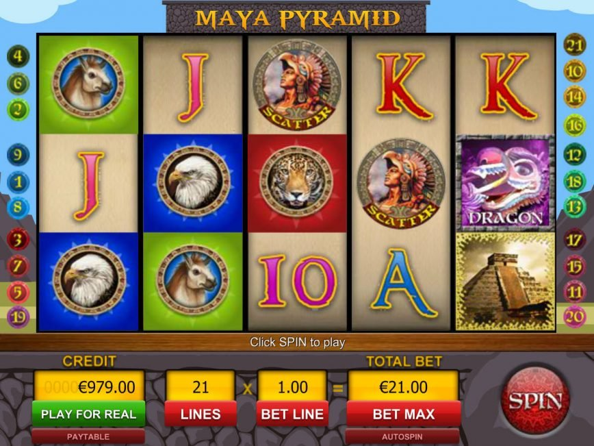 Spin free slot machine Maya Pyramid