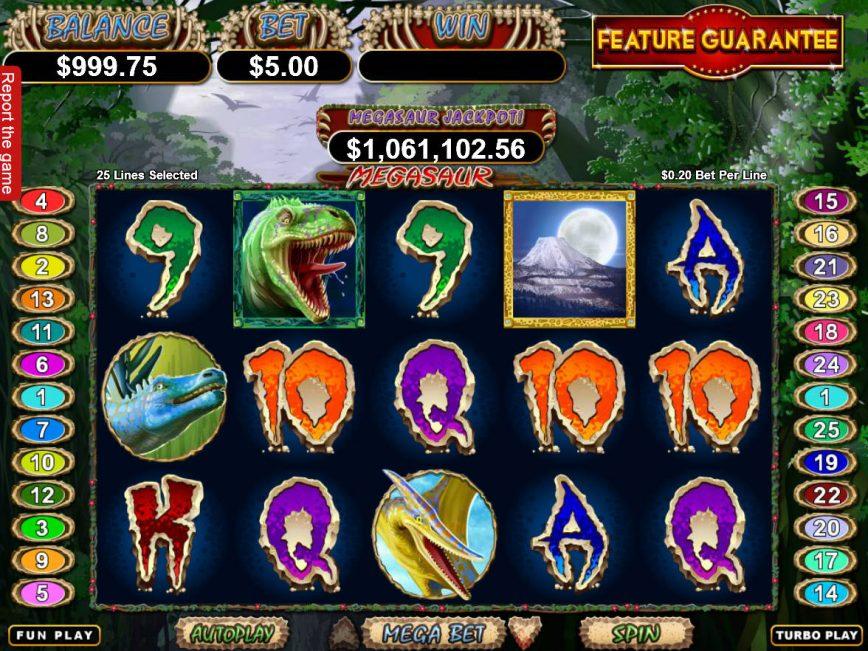 No deposit slot machine Megasaur