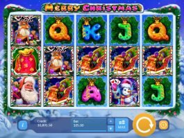 Slot machine for fun Merry Christmas